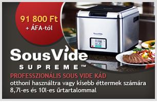 Sous Vide Supreme - érdeklődjön a részletekről!